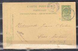 Postkaart Van Vise Naar Leers - 1893-1907 Wapenschild