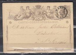 Postkaart Van Namur Naar St Servais - 1869-1888 Lion Couché