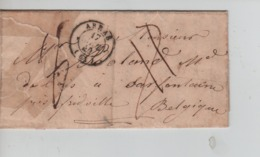 PR7563/ Précurseur LAC C.Arras 17/4/1849 Port 7 Barré Rectifié 6 > Belgique France Par Quievrain-Ligne De Quievrain - 1801-1848: Precursores XIX