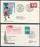 1968 Denmark / Hungary X 2 DANIA Stamp Exhibition Covers - Danimarca