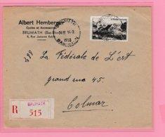 Fr.31  L Recom- 515  Brumath 14.2.1950 Pour Colmar  = 15.2.50 - Alsace-Lorraine