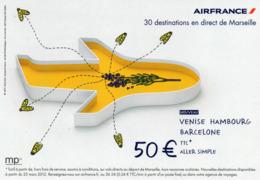 CPM - M - AIR FRANCE - 30 DESTINATIONS EN DIRECT DE MARSEILLE - VENISE - HAMBOURG - BARCELONE - Aviazione