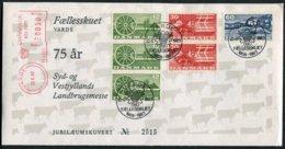 1983 Denmark Varde Franking Machine Cover. Faellesskuet 75th Anniversary Landbrugsmesse Jubilaeumskuvert Cows Cattle - Danimarca
