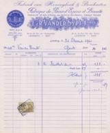 1963:Factuur Van ## E.&R. VANDER SYPT Frères, Van Den Heckestraat, 39 & 43, LEDEBERG ## Aan ##Mad. Vanden Haute, GENT## - Alimentaire