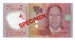 CAPE VERDE»200 ESCUDOS (SPECIMEN)»POLYMER»2014»P-71 (WORLD PAPER MONEY)»UNC - Specimen