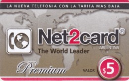 Argentina, AR-Pre-0278, Net2card, Premium $5, 2 Scans. - Argentine