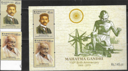 SRI LANKA, 2019, MNH, GANDHI, 150th BIRTH ANNIVERSARY OF MAHATMA GANDHI,2v+SHEETLET - Mahatma Gandhi