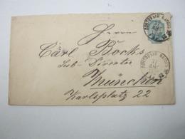 1892 , Ganzsache Mit Bahnpoststempel - 1857-1916 Empire