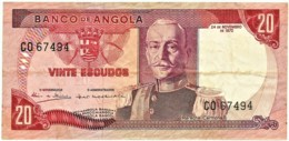 Angola - 20 Escudos - 24.11.1972 - Pick 99 - Série CO - Marechal Carmona - PORTUGAL - Angola