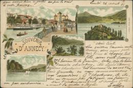74 ANNECY /  Carte Multivues / BELLE CARTE 1895 !  Tres Rare - Annecy