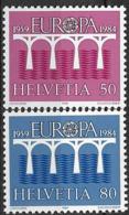 1984 Schweiz  Suisse Yv. 1199-0 Mi. 1270-1**MNH  Europa - Neufs