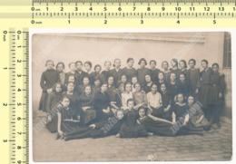 REAL PHOTO School Girls Class, Pupils Class Group Kids Teacher, Classe D'écolières, Groupe D'élèves Enfants - Anonymous Persons