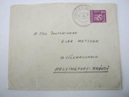 1930 , POSTITOIMIS , Violetter Stempel Auf Brief - Finland