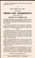 Moorsel, Hekelgem, 1947, Frans Van Langenhove, De Dobbelaar - Images Religieuses