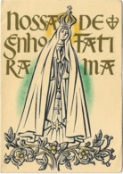 PORTUGAL - Carte Religieuse Double - NOSSA  SENHORA  DE FATIMA - Illustration - DESENHO DE MANOEL LAPA - Portugal