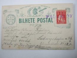 PAQUEBOT , Bilhete Postal  Lisboa - 1910-... République
