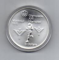 Canada - 1975 - 5 Dollari - XXI^ Olimpiadi Di Montreal Del 1976- Argento 925 - Peso 24,3 Grammi - In Capsula - (MW2628) - Canada