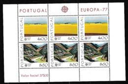 1977 Portogallo Portugal EUROPA CEPT EUROPE Foglietto MNH** Souv. Sheet - Europa-CEPT