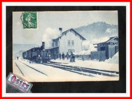 HAUTE SAVOIE A Situer - Gare Sous La Neige (recto Verso) - Autres Communes