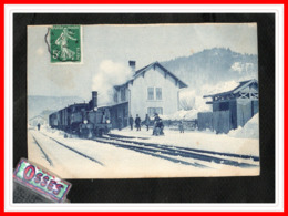 HAUTE SAVOIE A Situer - Gare Sous La Neige (recto Verso) - Otros Municipios