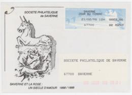 Saverne Lisa Jour Du Timbre 1998 - Marcophilie (Lettres)