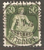 Switzerland: 1 Used Stamp, Sitting Helvetica, 1908, Mi#107(2) - Used Stamps