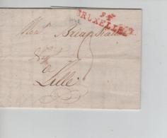 PR7566/ Précurseur LAC 10 Messidor An 9 Griffe Bruxelles Port 3 > Lille - 1794-1814 (French Period)