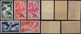 FRANCE 016 à 19 ** MNH + 17a * MH Poste Aérienne Série Mythologie Sagittaire Iris Egine Jupiter Char 1946 (CV 19 €) [GR] - Luftpost