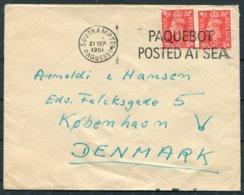 1951 GB Union Castle Line Ship Cover. Southampton PAQUEBOT - Copenhagen Denmark - 1902-1951 (Rois)