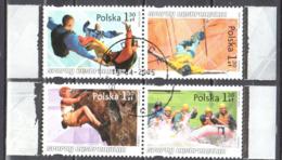 Poland  2005 - Extreme Sports - Mi.2x4176-79 - Used - Blocks & Kleinbögen