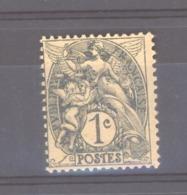 France  :  Yv  107j  **   Type IA ,ardoise , Papier GC - 1900-29 Blanc