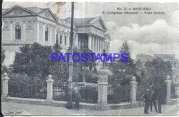 122987 CHILE SANTIAGO EL CONGRESO NACIONAL VISTA PARCIAL SPOTTED POSTAL POSTCARD - Chile