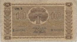 FINLAND 10 MARKKAA 1939 P-70a USED SIGN. KIVIALHO & ASPELUND [FI070a13] - Finlandia