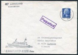 Denmark M/F LANGELAND Ship PAQUEBOT Cover - Denmark