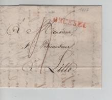 PR7570/ Précurseur LAC BXL 1817 Griffe BRussel Port 4 > Lille - 1815-1830 (Dutch Period)