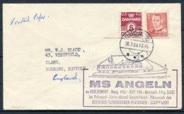 1966 Denmark MS ANGELN Ship Cover - Danimarca