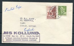 1966 Denmark MS KOLLUND Ship Cover - Danimarca