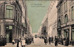 59 - Roubaix - La Rue Saint-Georges (C S Editeur, Top Animation, Colorisée, Tram Tramway 1905, Pipaix) - Roubaix