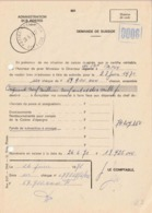 "BPS : Dokument ""'Admin. Des POSTES / DEMANDE DE SUBSIDES""  "" POSTES-POSTERIJEN /26.6.71/ OCC 1 CDB"" (RRR) - Postmark Collection"
