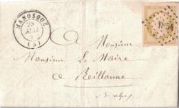 BASSES ALPES - MANOSQUE - EMPIRE N°13A - OBLITERATION PC1854 - TEXTE ET SIGNATURE POUR UN PROJET DE CONDUIRE UNE SOURCE - Postmark Collection (Covers)