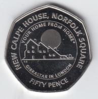 Gibraltar 50p Coin Calpe House 'Diamond Finish' - Gibraltar
