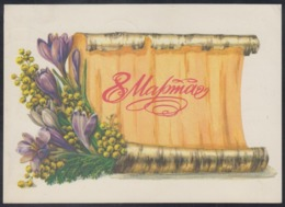 1302 RUSSIA 1981 ENTIER POSTCARD 8206 Used MARCH 8 WOMAN Day MOTHER Celebration FLOWER FLEUR BLUMEN FLEURS USSR Mailed - Mother's Day