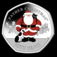 Gibraltar 50p Coin 2019 Christmas 'Diamond Finish' - Gibraltar
