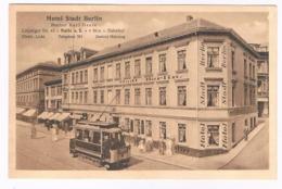 D-9898   HALLE : Hotel Stadt Berlin ( Tram ) - Halle (Saale)