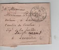 PR7573/ Précurseur LSC C.Paulliac 1831 P.P. Encadré > Lavardin Par Le Mans C.d'arrivée - 1801-1848: Precursores XIX