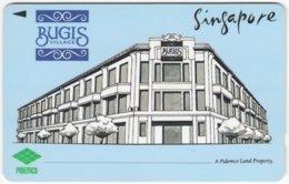 SINGAPORE B-384 Magnetic SingTel - Painting, Architecture, Building - 1SBVA - Used - Singapore
