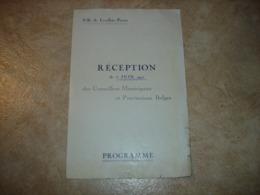 RARE !! LEVALLOIS PERRET - 5 JUIN 1922 - PROGRAMME RECEPTION CONSEILLERS MUNICIPAUX ET PROVINCIAUX BELGES - Programmes