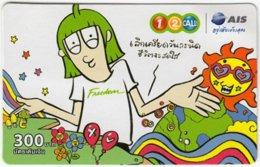 THAILAND A-827 Prepaid 1-2-call/AIS - Cartoon - Used - Thailand