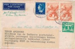 Nederland - Nederlands Indië - 1945 - Skymaster Post, Geweigerd/rejected En TERUG AFZENDER Met Strookje - Niederländisch-Indien