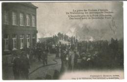 Grève Des Dockers Anvers - L'Incendie Près De La Porte D'Eeckeren - Uitg. J.B. Verhoeven / G. Hermans -  2 Scans - Antwerpen